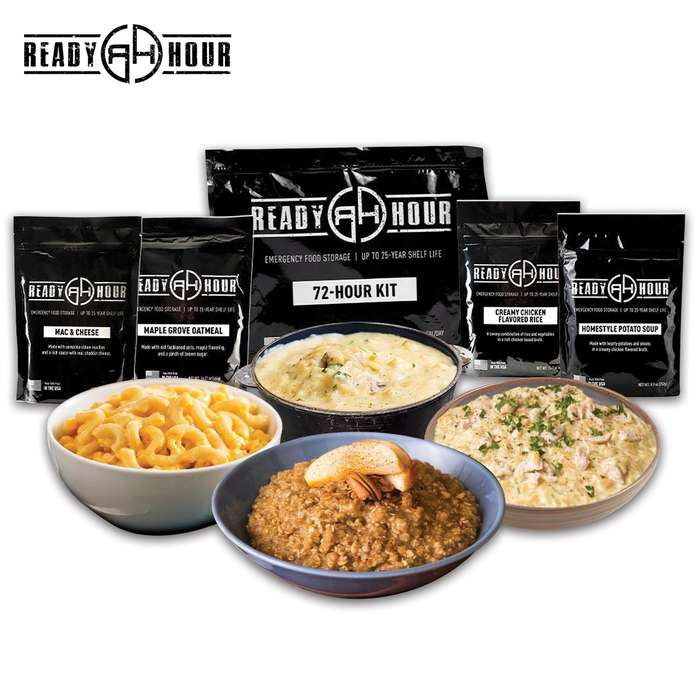 The Ready Hour 72-Hour Kit Sample Pack is the perfect option for those who are just getting started with food-prep plans