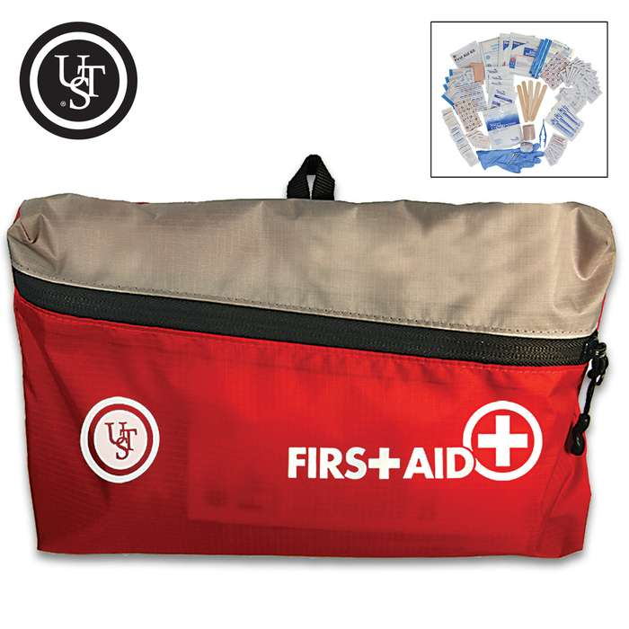 """UST Featherlite First Aid Kit 3.0 - Contains Assortment Of First Aid Supplies, Nylon Cloth Bag With Zipper Closure - Dimensions 9 1/4""""x 5 3/4""""x 2 1/2"""""""