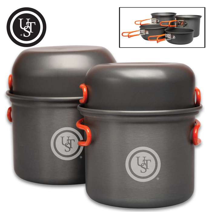 The UST Duo Cook Kit is the ultimate compact dining package for multi-day hikers and campers who want to save space and carry less