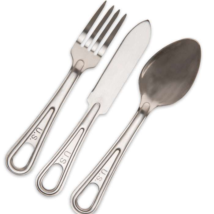 GI-Issue Utensils - Fork, Spoon and Knife