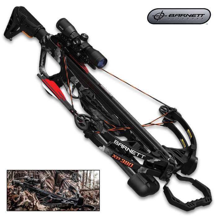 The Barnett Explorer XP380 Crossbow introduces impressive power and performance in an affordable crossbow package