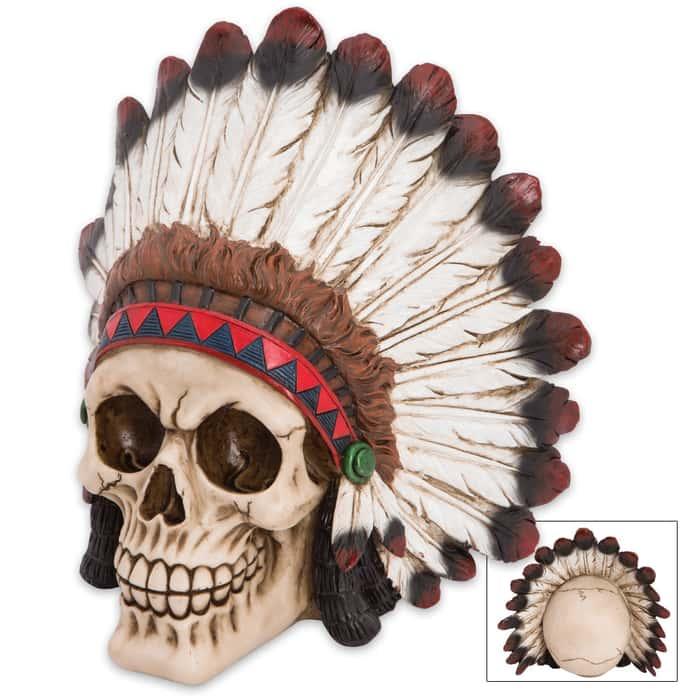Brave Native Indian Warrior-Chief Skull