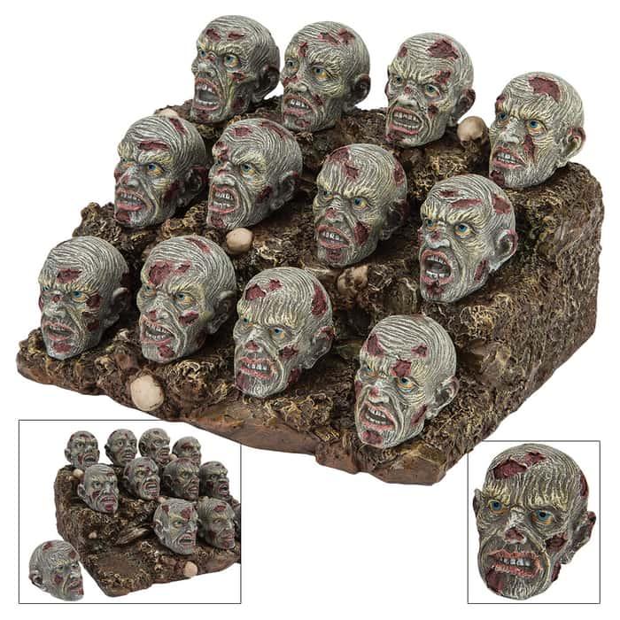 Zombie Heads Display