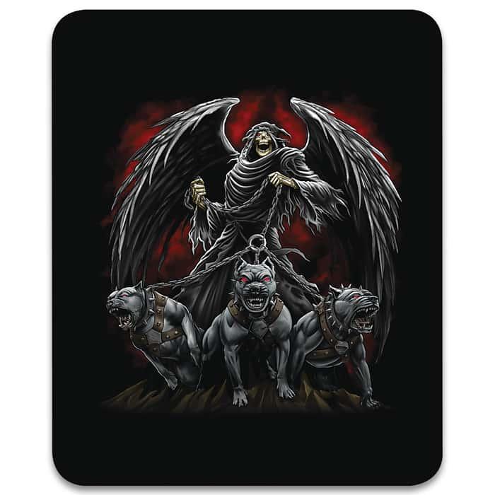 "Reaper Hounds Faux Fur Blanket - Plush Acrylic Material, Color-Saturated Vivid Artwork - Dimensions 70""x 90"""