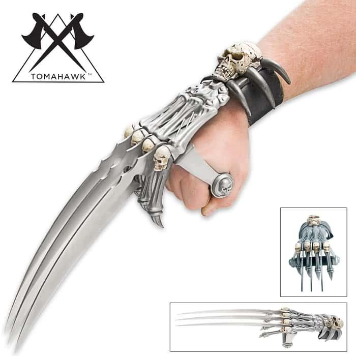 Tomahawk Fantasy Skull Gauntlet Handspike