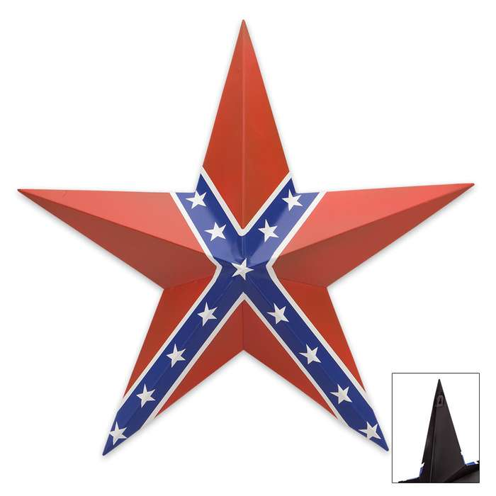Confederate Flag Star Plaque