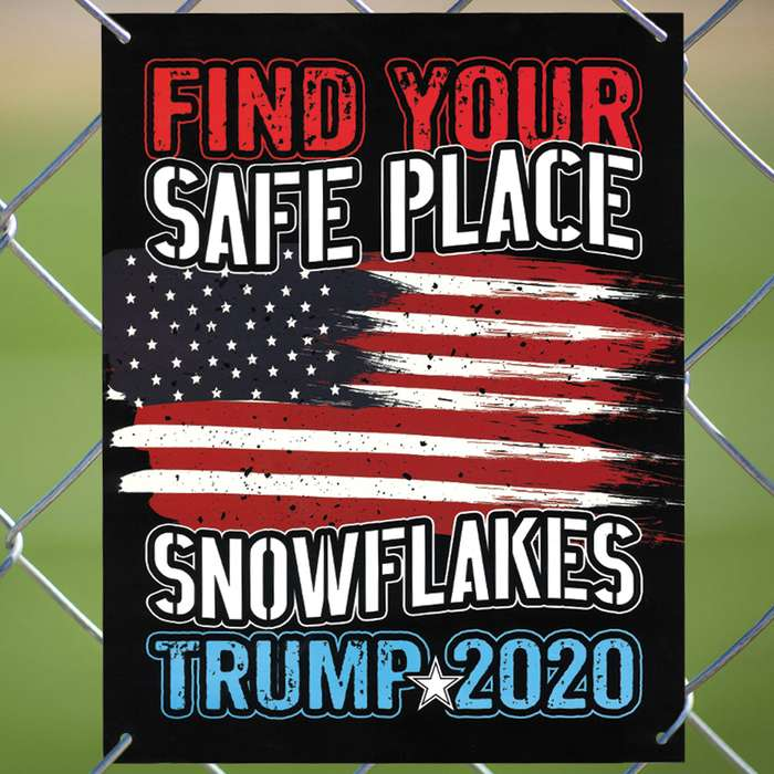 If you are supporting Donald Trump to be reelected in the 2020 presidential election, then you absolutely need this tin sign