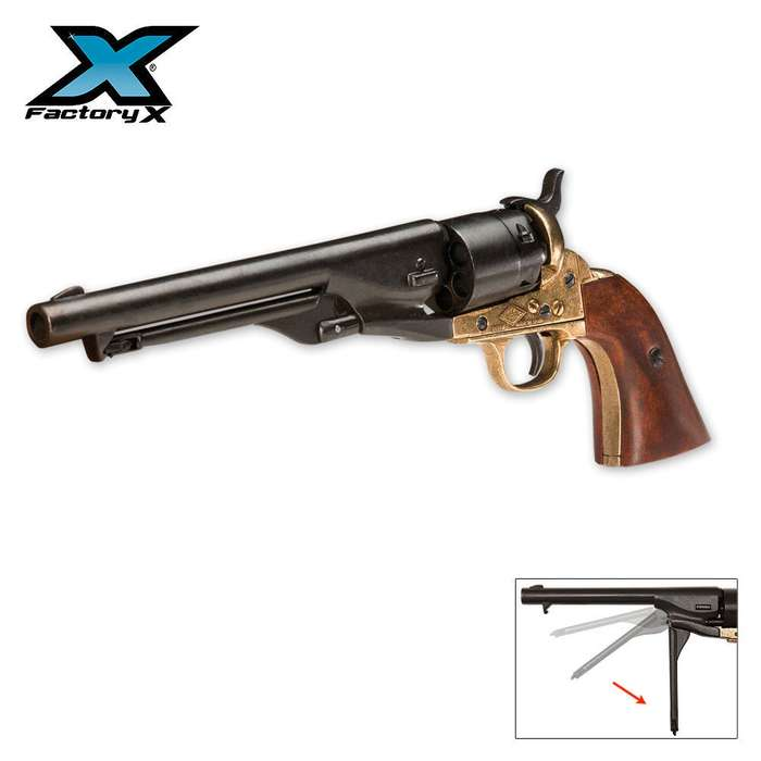 Replica M1860 Navy Issue Brass Finished Revolver - Non-Firing