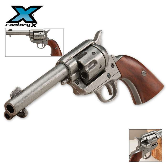 Replica Old West M1873 Quick Draw Revolver - Non-Firing, Antique Finish