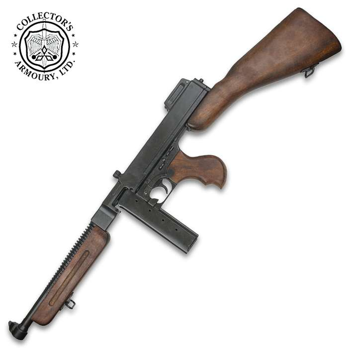 A highly detailed replica of the classic military Thompson submachine gun, it possesses an incredibly realistic look and feel