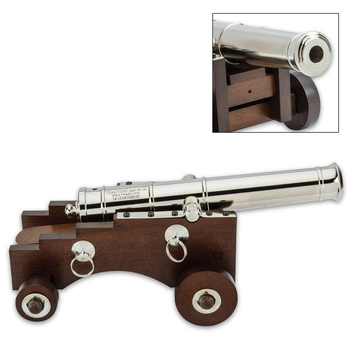 Offering working artillery in miniature, Traditions Firearms introduces its Mini Old Ironsides Black Powder Cannon