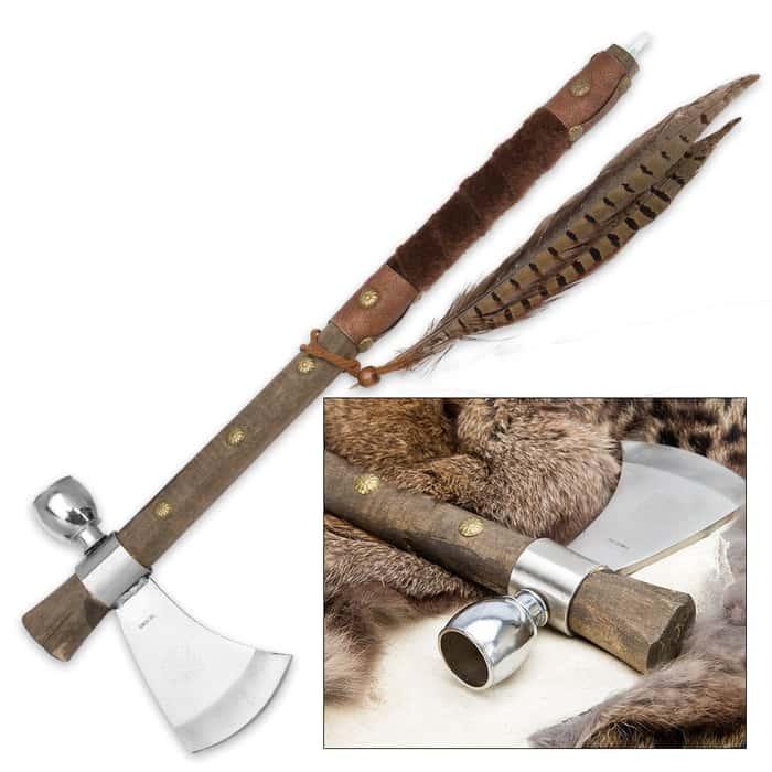 "Chief's Ceremonial Tomahawk Pipe - 19"" Historical Replica"