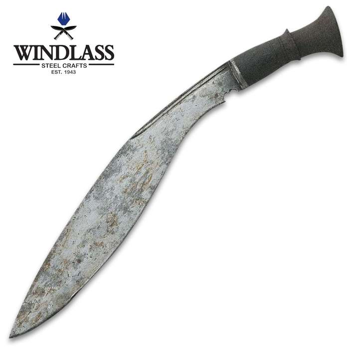 Made prior to 1890, this antique Longleaf Kukri has seen service with both the Nepali military and the British Army