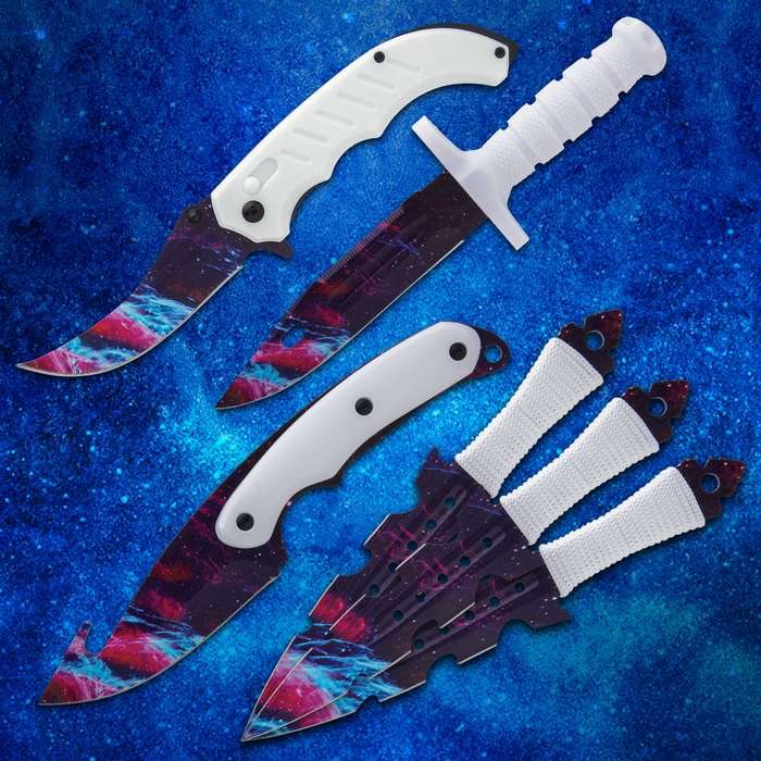 Packed with sharp and delicious goodies, you are getting an earth-shattering deal with this eye-catching knife set