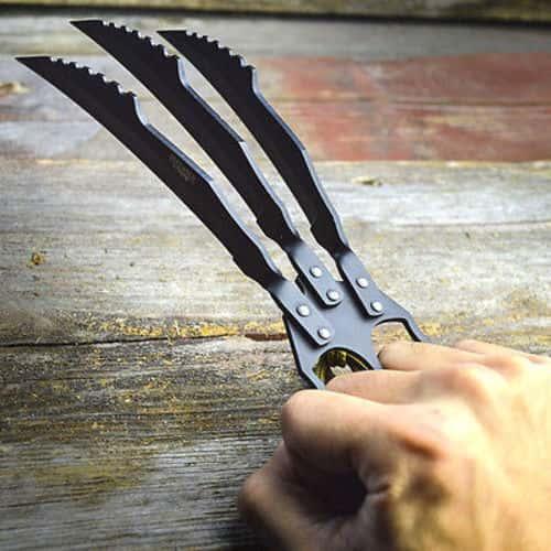 "10"" Hunting Wolverine Claw Blade Fantasy Knife Combat XMEN Cosplay w/ Sheath"