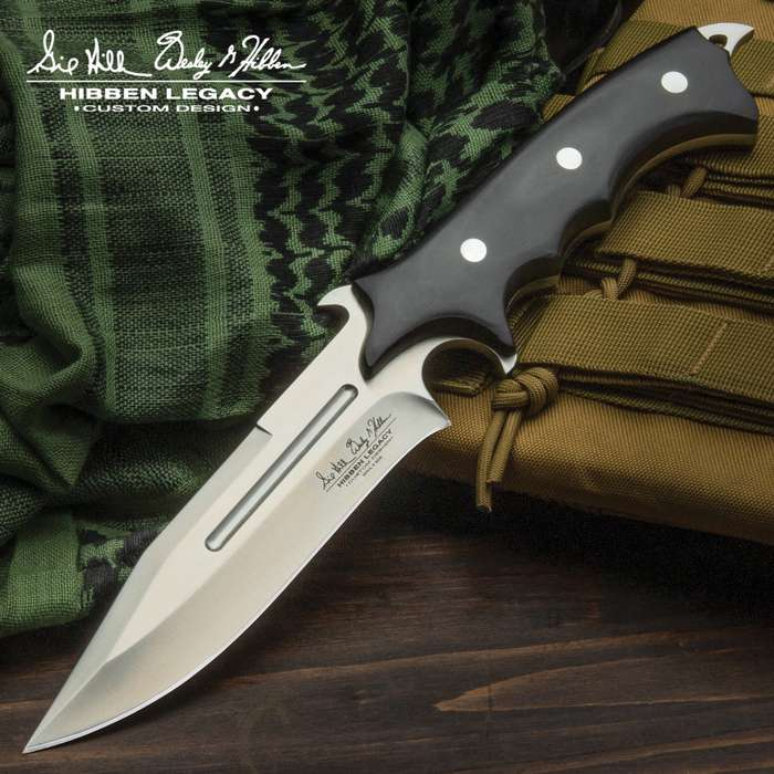 Hibben Legacy Combat Fighter Knife with Leather Sheath