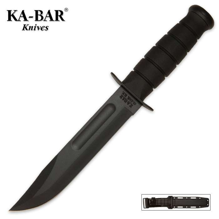 KA-BAR Classic Marine Knife Black & Sheath