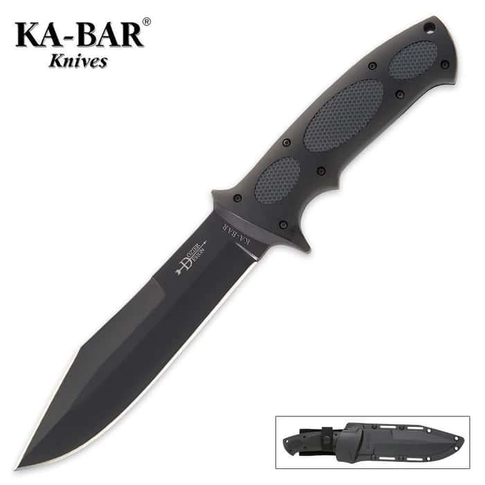 KA-BAR Bull Dozier Kraton Knife with Sheath