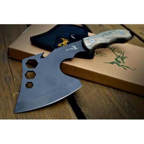 TACTICAL SURVIVAL Wood Throwing AXE HATCHET TOMAHAWK Hawk Hunting w/ SHEATH