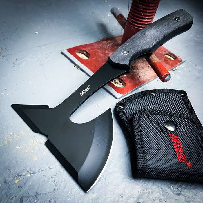 "9"" SURVIVAL TOMAHAWK TACTICAL THROWING AXE w/ SHEATH BATTLE Hatchet Knife Hawk"