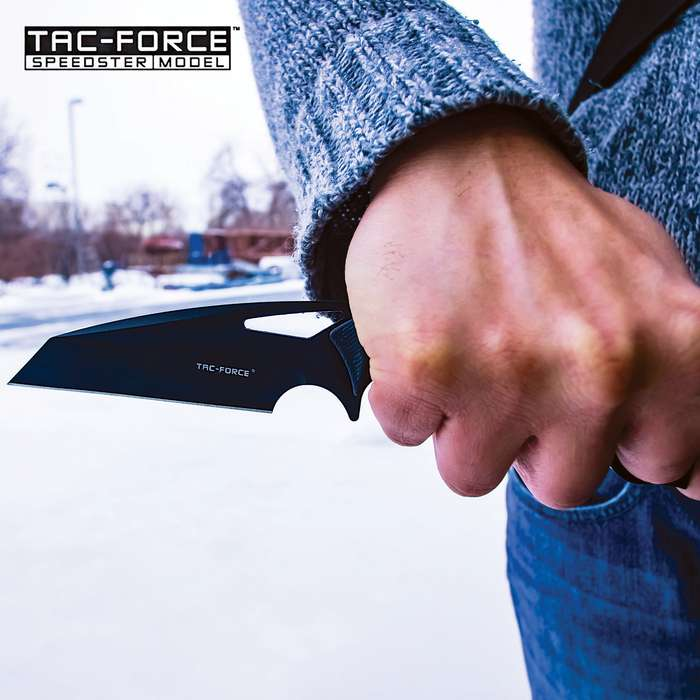 """Tac-Force Reverse Tanto Blade Knife With Sheath - 3Cr13 Stainless Steel Blade, CNC G10 Handle Scales, Open-Ring Pommel - Length 8 1/2"""""""