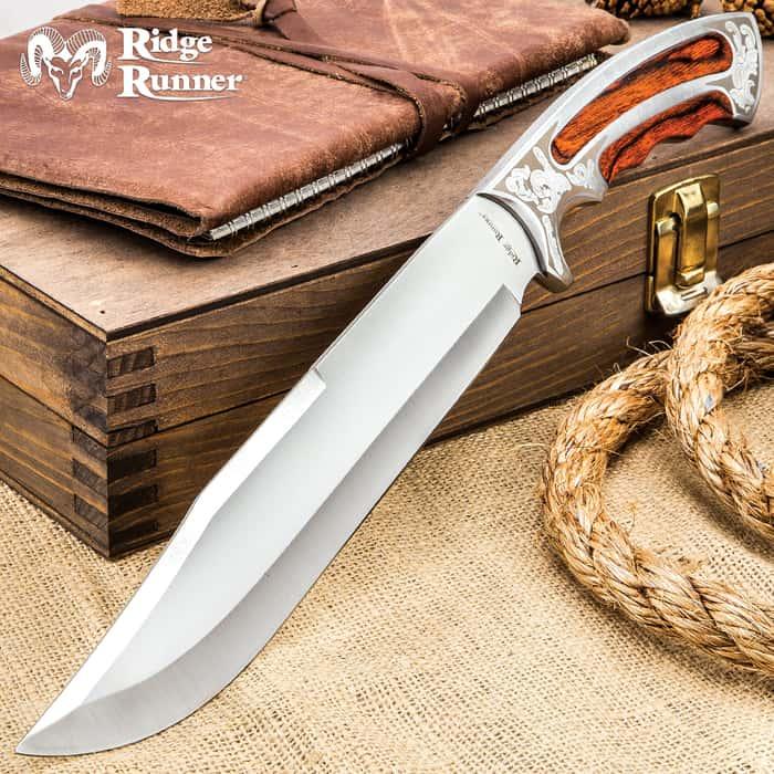 Ridge Runner Ambassador Bowie Knife with Sheath
