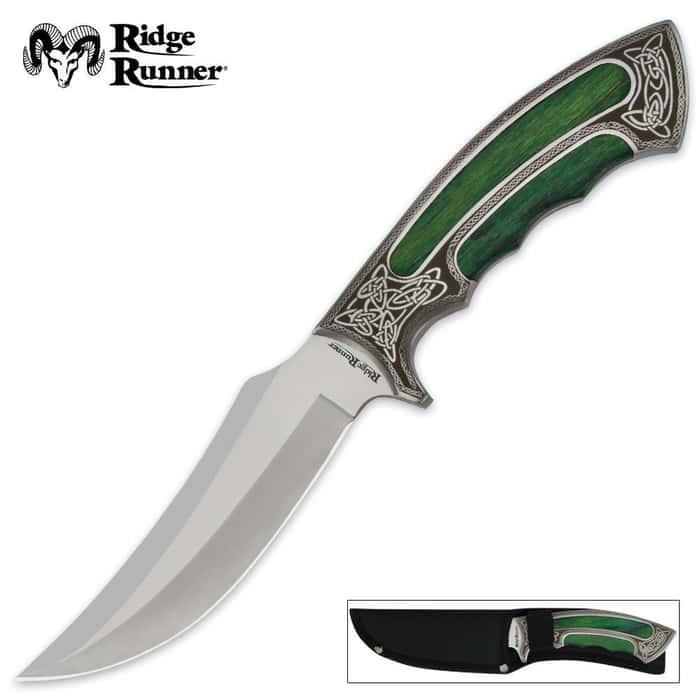 Ridge Runner Celtic Elite Fixed Blade Knife With Sheath