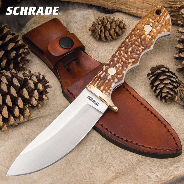 The Schrade Uncle Henry Elk Hunter Skinner Knife will be your most used tool on the hunting lease