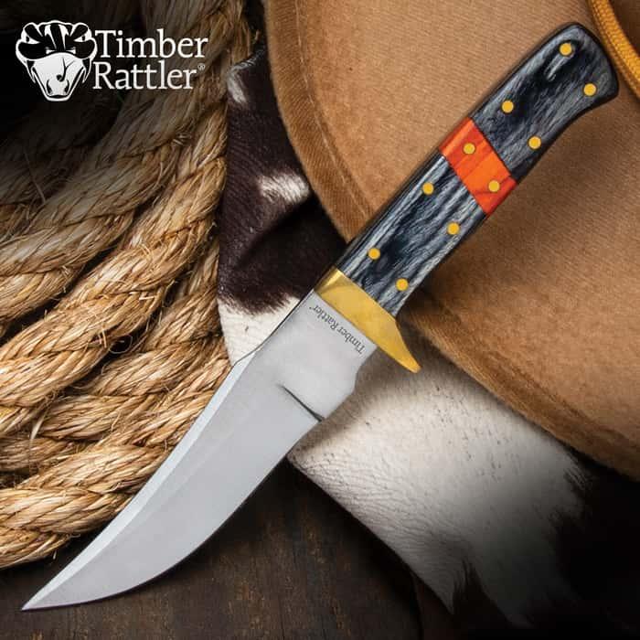 Timber Rattler Saddlebag Skinner Knife
