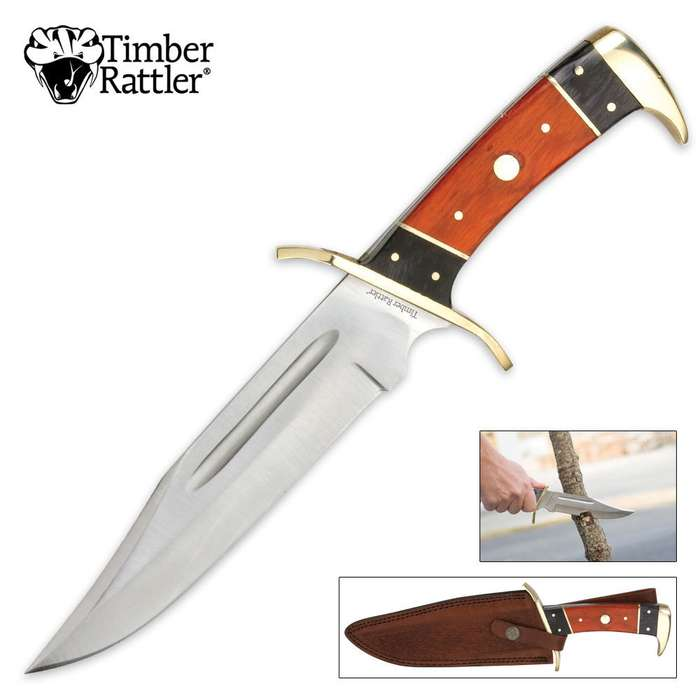 Timber Rattler 12 Inch Dark Pakka Bowie Knife