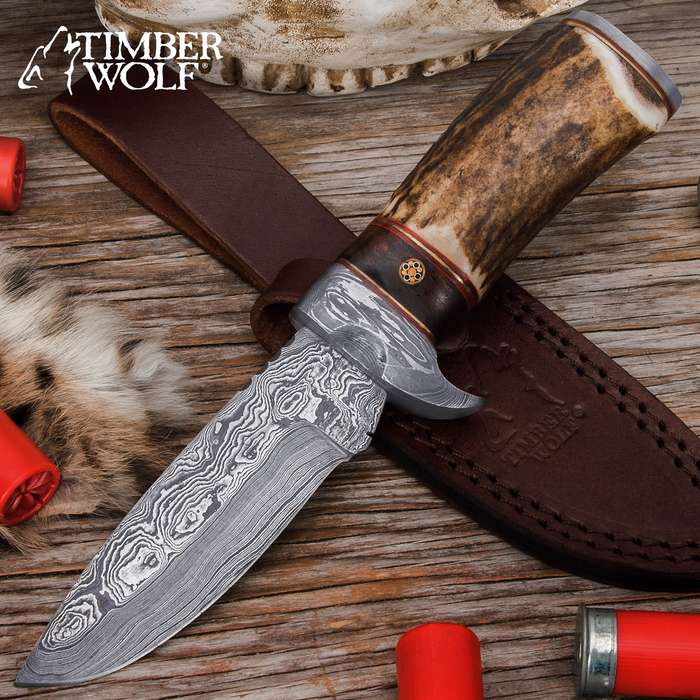 The Whitetail Ridge Skinning Knife from Timber Wolf is both a handsome showpiece and a very capable field tool