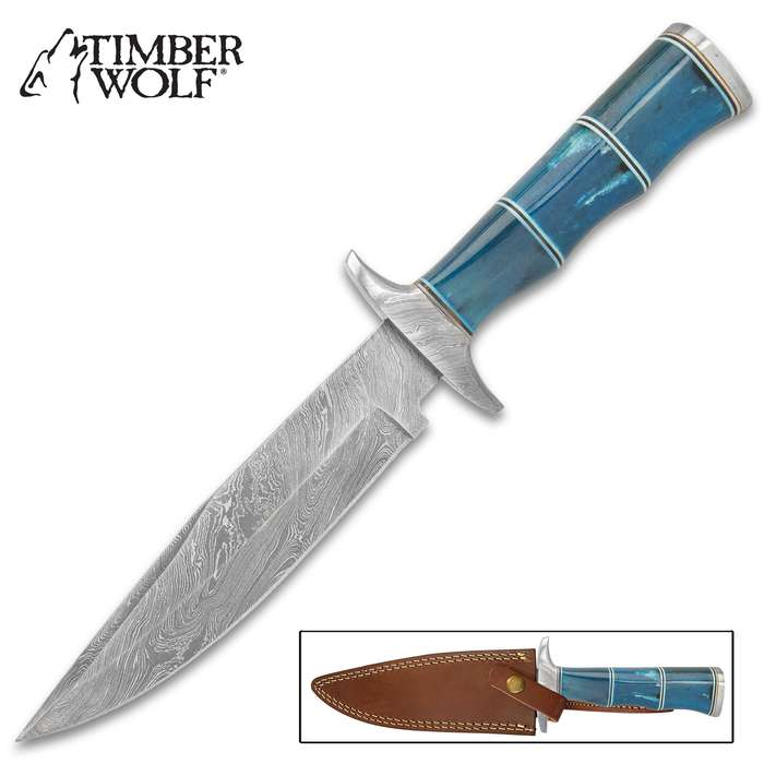 The Timber Wolf Azul Hunting Knife was inspired by the Rio Celeste, the incredibly blue river that runs through the Costa Rican rainforest