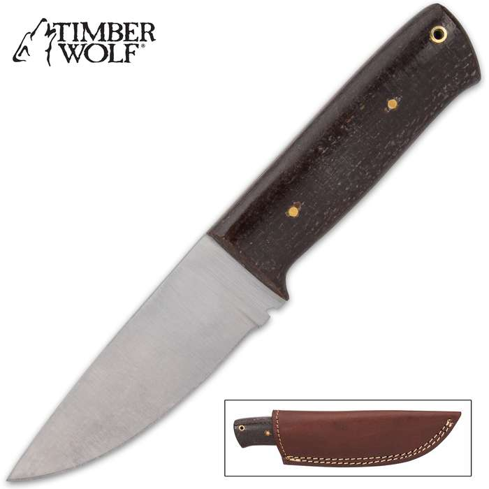 The Timber Wolf Taskmaster Knife is small but mighty, making it an excellent every day carry fixed blade knife