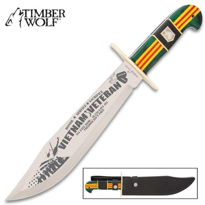 Beauty, patriotism, remembrance and keen-edged ferocity unite in stunning, picture perfect harmony in this bowie knife