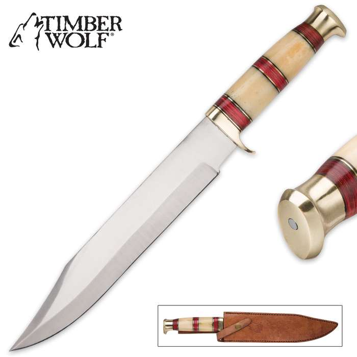 Timber Wolf Desert Canyon Bowie Knife
