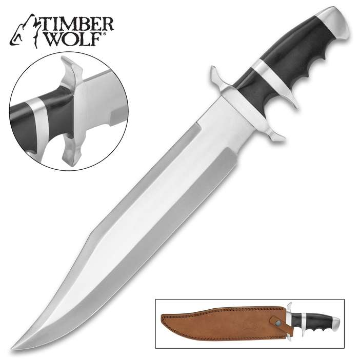 Timber Wolf Massive Micarta Bowie Knife