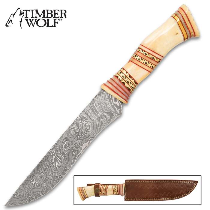 The Timber Wolf Horus Knife is the fixed blade the Egyptian god of the Pharaohs carries at his side, as a back-up weapon in his hand-to-hand combat with Set