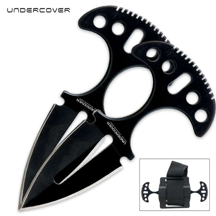 United Cutlery Undercover Black Twin Push Daggers