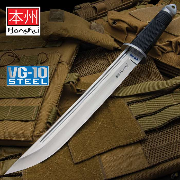 This massive Honshu Tanto Knife is a great blade for self-defense or even hog hunting
