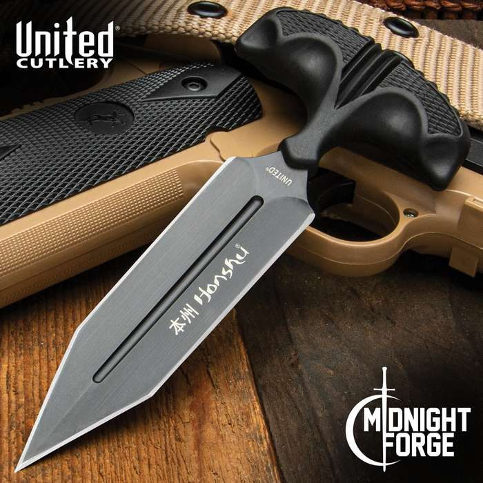 United Cutlery Honshu Push Dagger Black Tanto Large