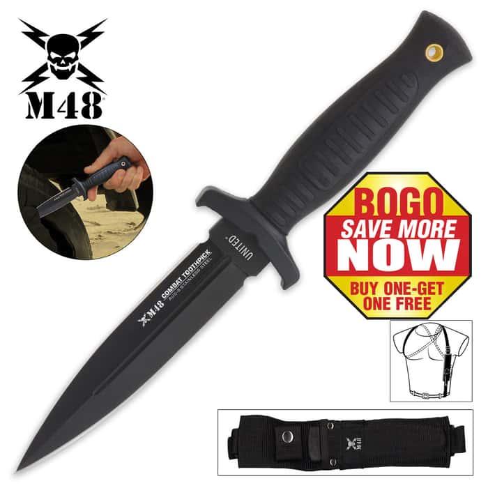 United Cutlery Commander Boot Knife and Shoulder Harness - BOGO