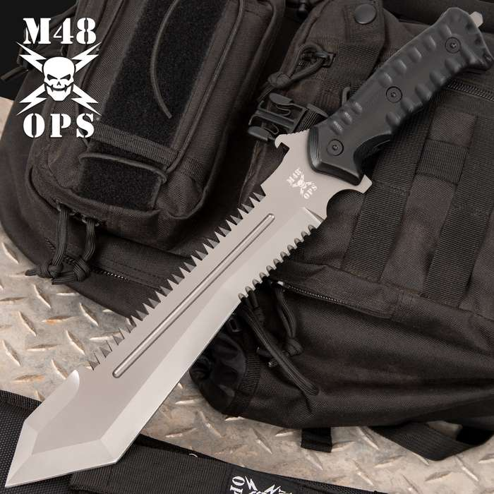 M48 Ops Combat Bowie With Sheath