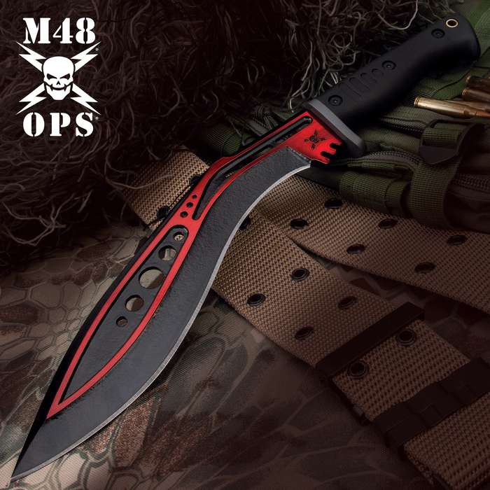 A modern, tactical take on an ancient design, the tactical kukri is a must-have for survivalists and outdoorsmen