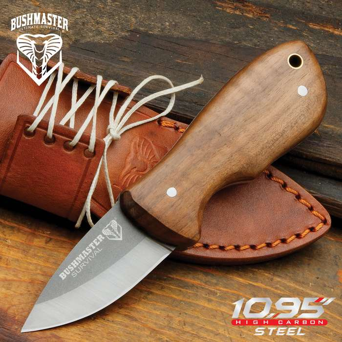 The Bushmaster Marajó Bushraft Knife is one of the smallest and yet so capable bushcraft fixed blade that you'll ever see