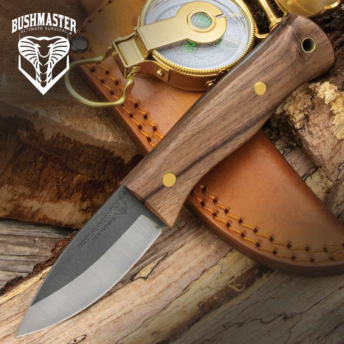 The combination of super strong zebra wood and high carbon steel makes this fixed blade camping knife invincible