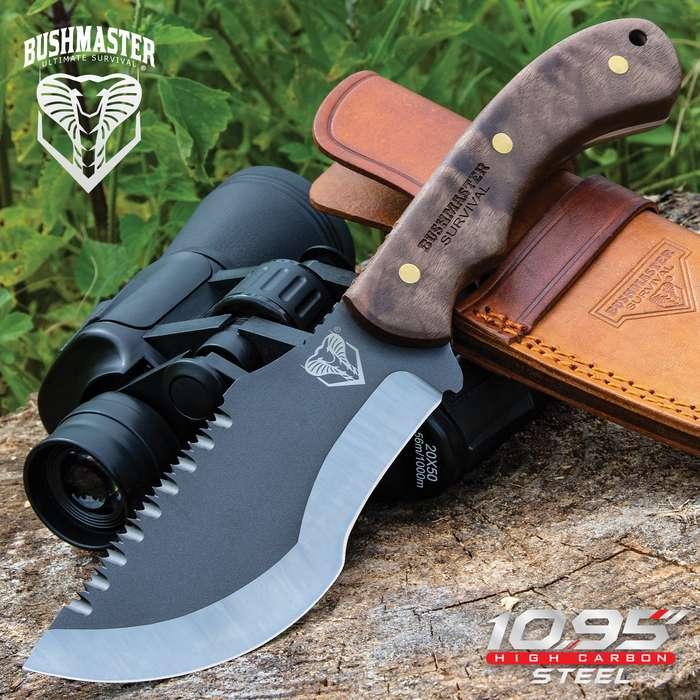 The Bushmaster Tracker Knife will be your right arm when you're out tracking your quarry in the wild