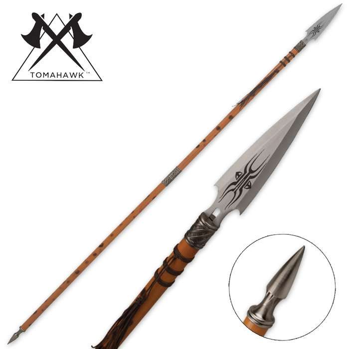 African Wooden Warrior Spear