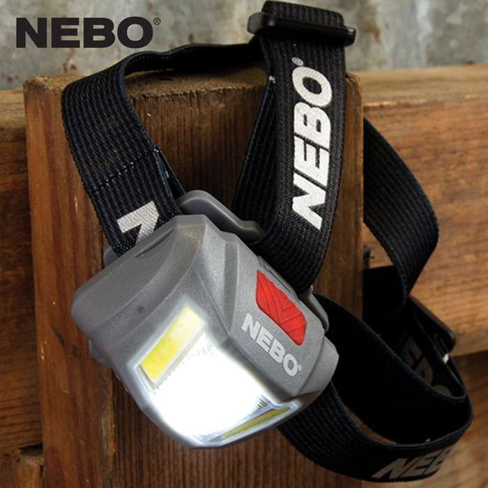 The NEBO Duo Headlamp is an all-powerful, hands-free lighting solution that is tough, reliable, lightweight and completely shock-proof