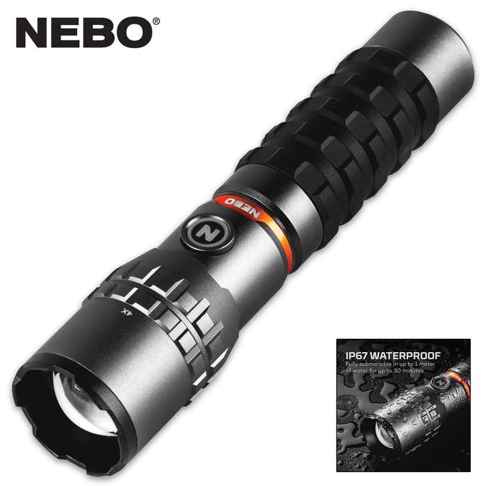 Rechargeable, waterproof and, the Slyde King 2K Flashlight features a 2,000-lumen flashlight and a 500-lumen COB work light