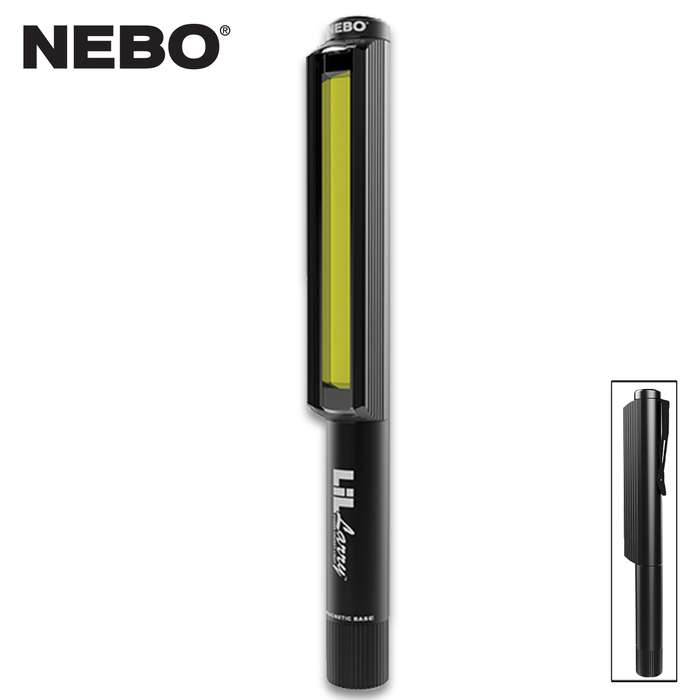 Don't let the name fool you, the Nebo LiL Larry Black Work Light packs enough power to take its rightful place in the Nebo Larry Work Light family